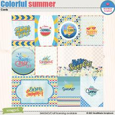 Colorful summer - cards by HeartMade Scrapbook