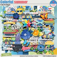 Colorful summer - collection biggie by HeartMade Scrapbook