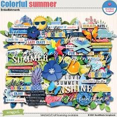 Colorful summer - embellishments by HeartMade Scrapbook