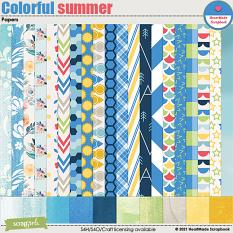 Colorful summer - papers by HeartMade Scrapbook
