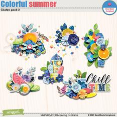 Colorful summer - clusters pack 2 by HeartMade Scrapbook