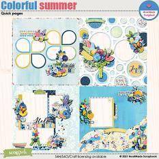 Colorful summer - quick pages by HeartMade Scrapbook