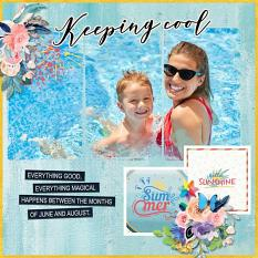 Layout using Colorful summer by HeartMade Scrapbook