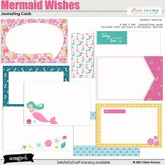 Mermaid Wishes Journalling Cards by Diane Rooney
