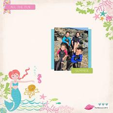 Mermaid Wishes scrapbook layout by Diane Rooney