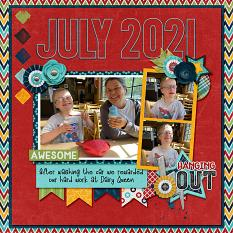CT Layout using July 2021 12x12 Templates by Connie Prince