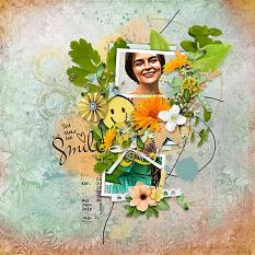 Layout using ScrapSimple Digital Layout Templates:Live Well Laugh Often