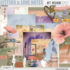 Letters and Love Notes #digitalscrapbooking Collection by AFT Designs - Amanda Fraijo-Tobin @ScrapGirls.com