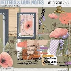 Letters and Love Notes #digitalscrapbooking Embellishments and Word Art by AFT Designs