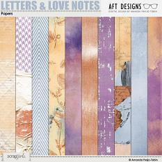 Letters and Love Notes #digitalscrapbooking Papers by AFT Designs