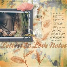 """""""Love Letters and Love Notes"""" #digitalscrapbooking layout by AFT Designs - Amanda Fraijo-Tobin"""