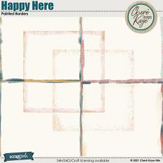 Happy Here Painted Borders