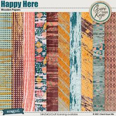 Happy Here Wooden Papers