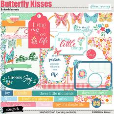 Butterfly Kisses Embellishments by Diane Rooney
