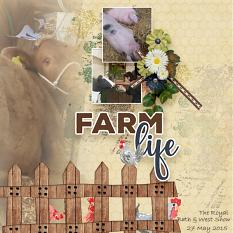Layout using FarmLife Collection Biggie