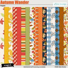 Autumn Wander Papers by Diane Rooney