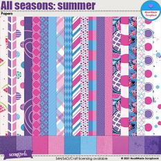 All seasons: summer - papers by HeartMade Scrapbook