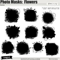 Photo Masks:  Flowers by Diane Rooney