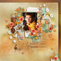 layout using Fall Melody by BeeCreation