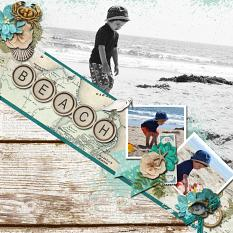 CT Layoug using The Big Pictures Volume 31 12x12 Templates by Connie Prince