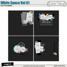 White Space Volume 61 12x12 Templates by Connie Prince