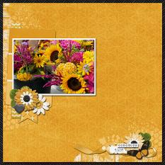 CT Layout using Paint Chips: Golden Rod by Connie Prince