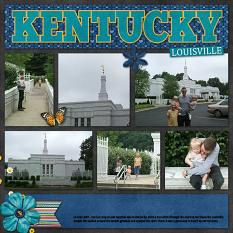 CT Layout using Travelogue Kentucky by Connie Prince