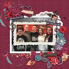 Layout using Shabby Florals 1