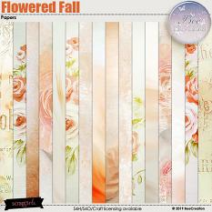 Flowered Fall Papers
