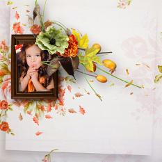 layout using Flowered Fall by BeeCreation