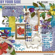 By Your Side #digitalscrapbooking Word Art and Embellishments by AFT Designs