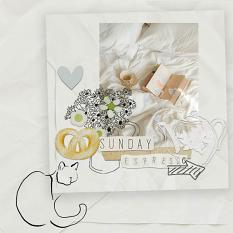 digital scrapbooking layout using Today is your lucky day Embellishments