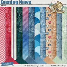 Evening News Papers by Silvia Romeo