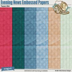 Evening News Embossed Papers by Silvia Romeo