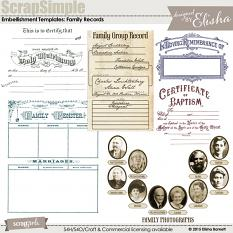 You may also like ScrapSimple Embellishment Templates: Family Records