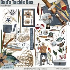 Dads Tackle Box Digital Embellishments