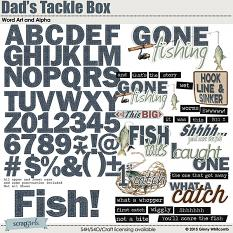 Dads Tackle Box Digital Word Art and Alpha