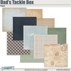 Dads Tackle Box Digital Paper
