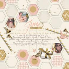 The Perfect Gift Digital Scrapbooking Layout by Brandy Murry