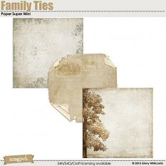 Family Ties digital scrapbooking paper by Ginny Whitcomb