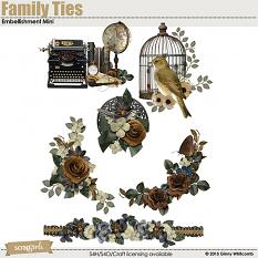 Family Ties digital scrapbooking Embellishment Mini by Ginny Whitcomb