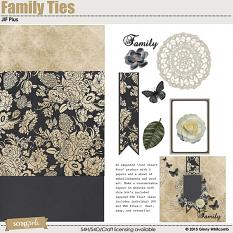 JIF Plus Family Ties digital scrapbooking kit by Ginny Whitcomb