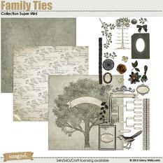 Family Ties Collection Super Mini digital scrapbooking kit by Ginny Whitcomb