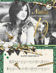 Happy Birthday Naima Digital Scrapbooking Layout by Brandy Murry
