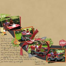 Digital scrapbooking layout, featuring Derby Collection Biggie
