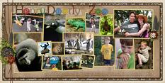Henry Doorly Zoo Layout using ScrapSimple Digital Layout Album Templates: 12x12 Two Page Spreads