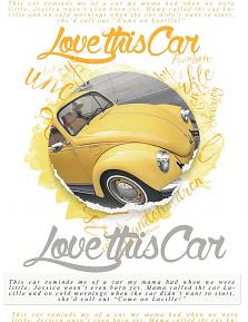 """Love this Car"" scrapbooking/photobook layout by Brandy Murry"