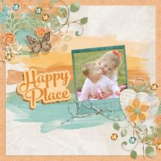 Digital Scrapbook layout featuring Simple Joys Collection Biggie