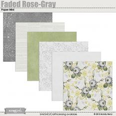 Faded Rose Paper Mini - Gray