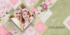 """Our Children"" digital scrapbooking layout by Brandy Murry"